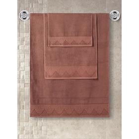 Полотенце махровое Siesta, размер 40x60 см, цвет кирпичный