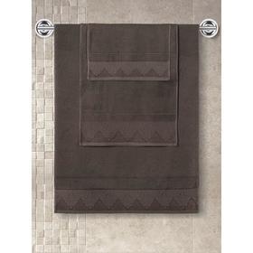 Полотенце махровое Siesta, размер 40x60 см, цвет коричневый