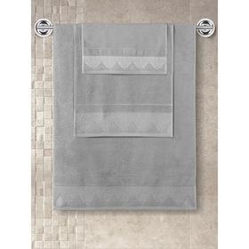 Полотенце махровое Siesta, размер 40x60 см, цвет серый