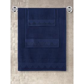 Полотенце махровое Siesta, размер 40x60 см, цвет синий