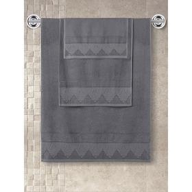 Полотенце махровое Siesta, размер 40x60 см, цвет тёмно-серый