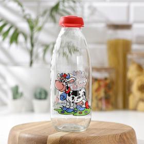 Бутылка для молока «Буренка», 1 л, 8,9×24 см