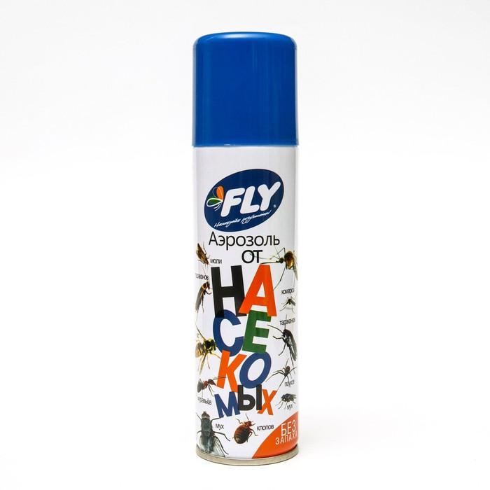 """Аэрозоль от летающих и ползающих насекомых """"Fly"""", без запаха, флакон, 145 мл"""
