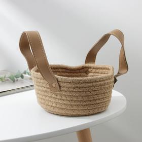 Корзина для хранения плетёная Доляна «Айко», 19×19×15 см