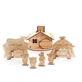 Кукольный театр деревянный «Три поросёнка»