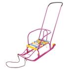 Санки «Тимка 3 Юниор Комфорт» с толкателем и колесами, цвет сиреневый - Фото 1