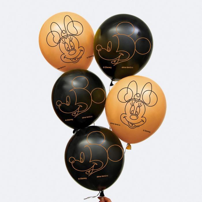 """Воздушные шары """"Gold"""", Микки Маус и друзья (набор 5 шт) 12 дюйм"""
