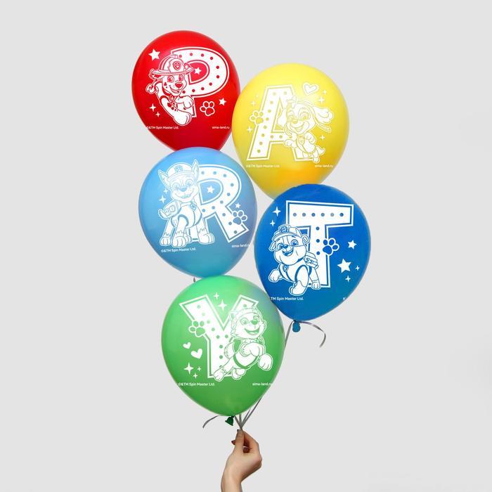 """Воздушные шары """"Party"""", Щенячий патруль (набор 5 шт) 12 дюйм"""