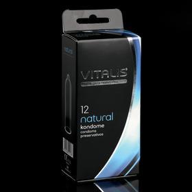 Презервативы VITALIS PREMIUM классические, ширина 53mm, 12 шт