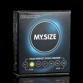 Презервативы MY.SIZE ширина 49mm, 3 шт