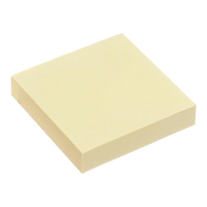 Блок с липким краем 51мм51мм 100л пастель желтый