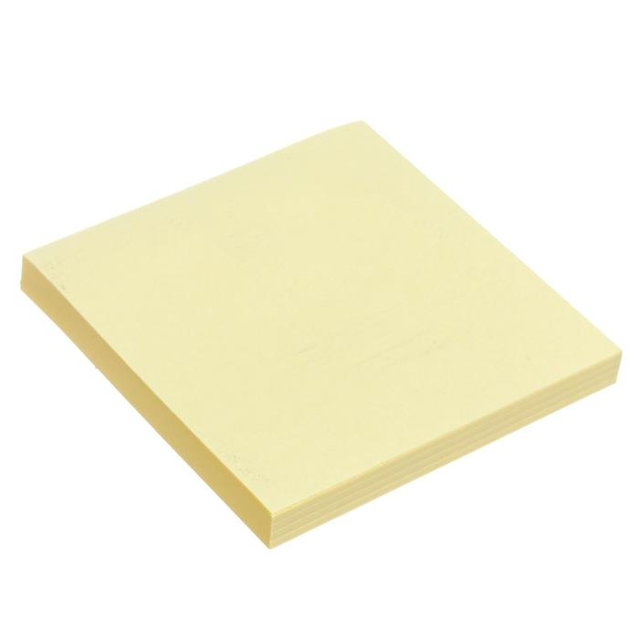 Блок с липким краем 76мм76мм 80л пастель желтый