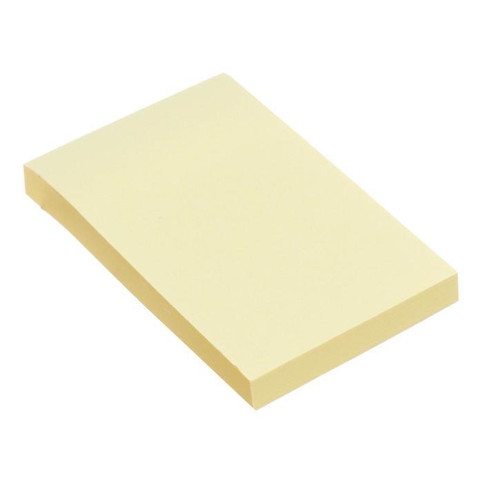 Блок с липким краем 51мм76мм 80л пастель желтый