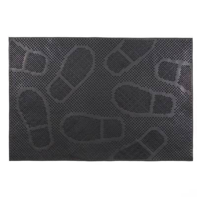 Коврик резиновый «Следы», 40х60 см, цвет чёрный