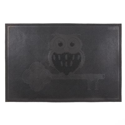 Коврик резиновый «Сова», 40х60 см, цвет чёрный
