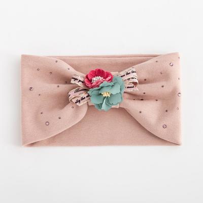 Повязка для девочки «Букет», цвет светло-розовый, размер 48-54 (2-7 лет) - Фото 1