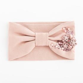 Повязка для девочки «Катерина», цвет светло-розовый, размер 48-54 (2-7 лет)