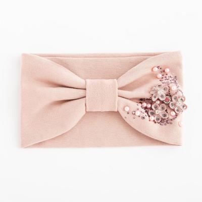 Повязка для девочки «Катерина», цвет светло-розовый, размер 48-54 (2-7 лет) - Фото 1