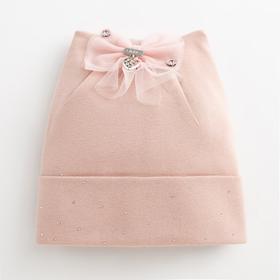 """Шапка  для девочки """"Россыпь"""", цвет розовый, размер 54-56 (6-8 лет)"""