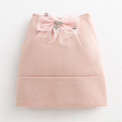 """Шапка  для девочки """"Россыпь"""", цвет розовый, размер 54-56 (6-8 лет) - Фото 1"""