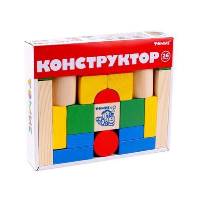 Конструктор «Цветной», 26 элементов