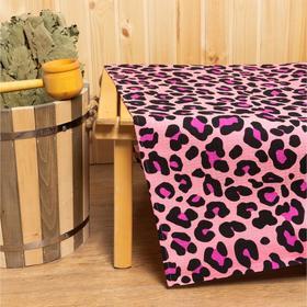 Простыня для бани Leopard 150х180±5 см, 100% хлопок, вафельное полотно, 160 гр/м2 Ош