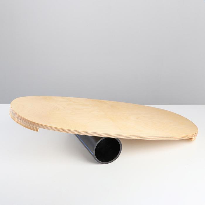 Доска балансировочная балансборд, 75х35х1,5 см, D ролика 12 см