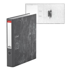 Папка-регистратор А4, 50 мм, Economy, разборный, мраморный, серый, картон 1.75 мм, вместимость 350 листов