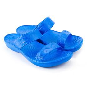 Сланцы пляжные женские, цвет синий, размер 36