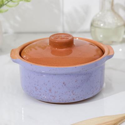 Сотейник Ломоносовская керамика, 800 мл, цвет сиреневый - Фото 1