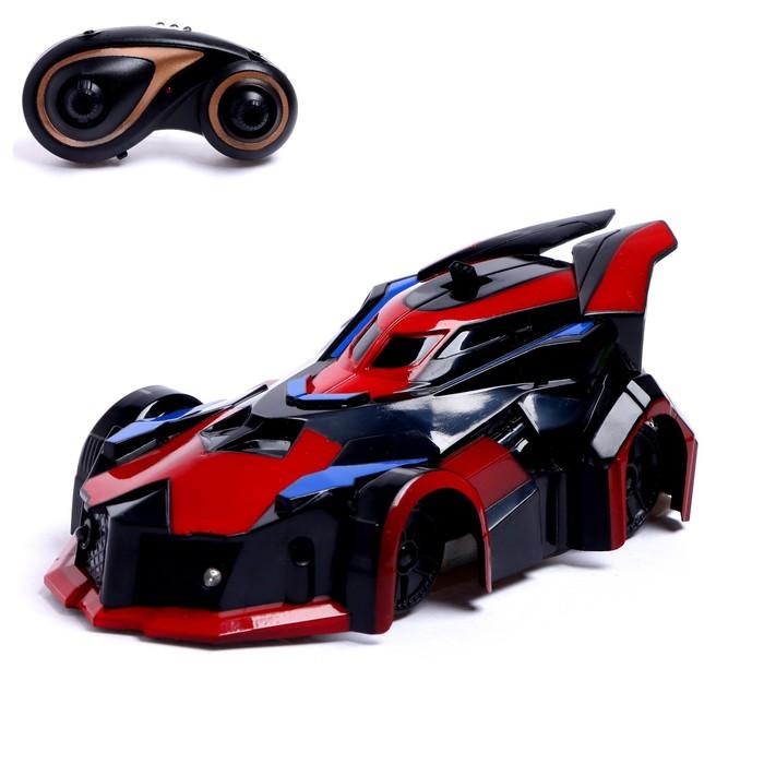 Антигравитационная машинка «СпортКар», радиоуправление, аккумулятор, ездит по стенам, свет, цвет красный
