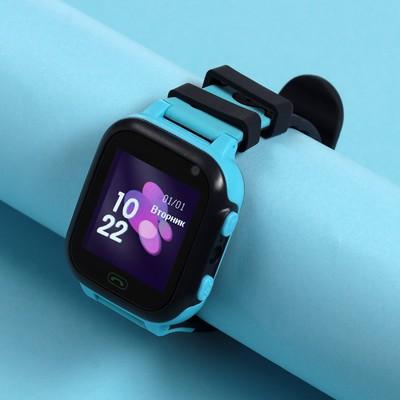"Детские смарт-часы Windigo AM-15, 1.44"", 128x128, SIM, 2G, LBS, камера 0.08 Мп, голубые"