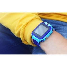 "Детские смарт-часы Windigo AM-12, 1.44"", 128x128, SIM, 2G, LBS, камера 0.08 Мп,IP67, голубые"