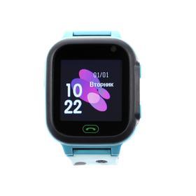 Детские смарт-часы Windigo AM-12, 1.44', 128x128, SIM, 2G, LBS, камера 0.08 Мп,IP67, голубые Ош