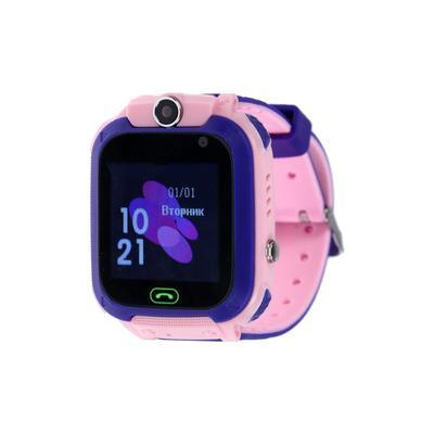 """Детские смарт-часы Windigo AM-12, 1.44"""", 128x128, SIM, 2G, LBS, камера 0.08 Мп,IP67, розовые"""