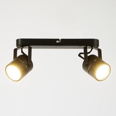 Светильник 5.0200-2, 2х50Вт GU5.3, цвет чёрный