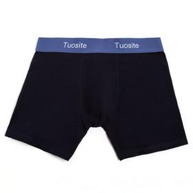 Трусы мужские боксеры, цвет чёрный/синий, размер 48-50 (L)