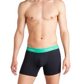 Трусы мужские боксеры, цвет чёрный/зелёный, размер 48-50 (L)