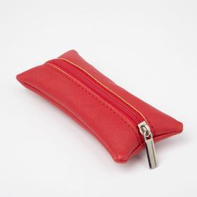 Ключница, длина 14 см, отдел на молнии, цвет розовый