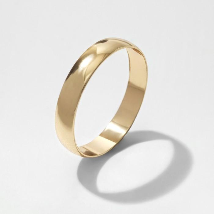 Кольцо обручальное Классик, цвет золото, размер 16