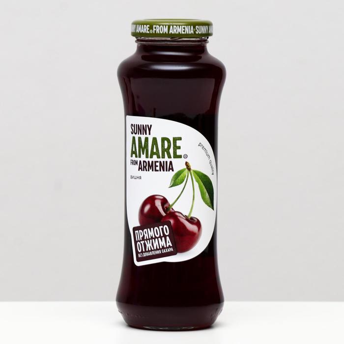 Вишнёвый сок прямого отжима SUNNY AMARE, без сахара, 250 мл