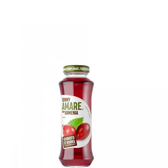 Кизиловый сок прямого отжима SUNNY AMARE, без сахара, 250 мл