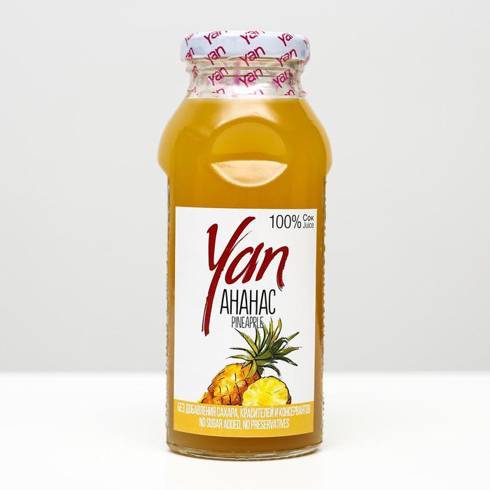 Ананасовый сок восстановленный YAN, 250 мл