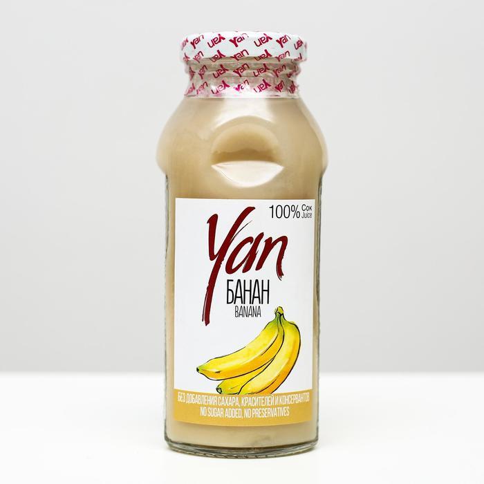 Банановый сок восстановленный YAN, 250 мл