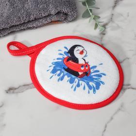 Спонж «Пингвин», 12×15 см, цвет красный Ош