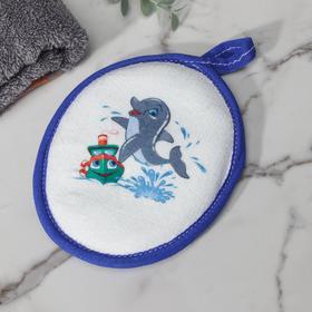 Спонж «Дельфин», 12×15 см, цвет МИКС Ош