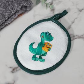 Спонж «Дино», 12×15 см, цвет зелёный Ош