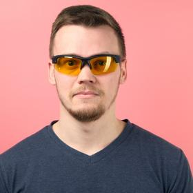 Очки спортивные 'Мастер К.' UV400, ширина 14 см, дужка 14 см, линза 4х6.5 см Ош