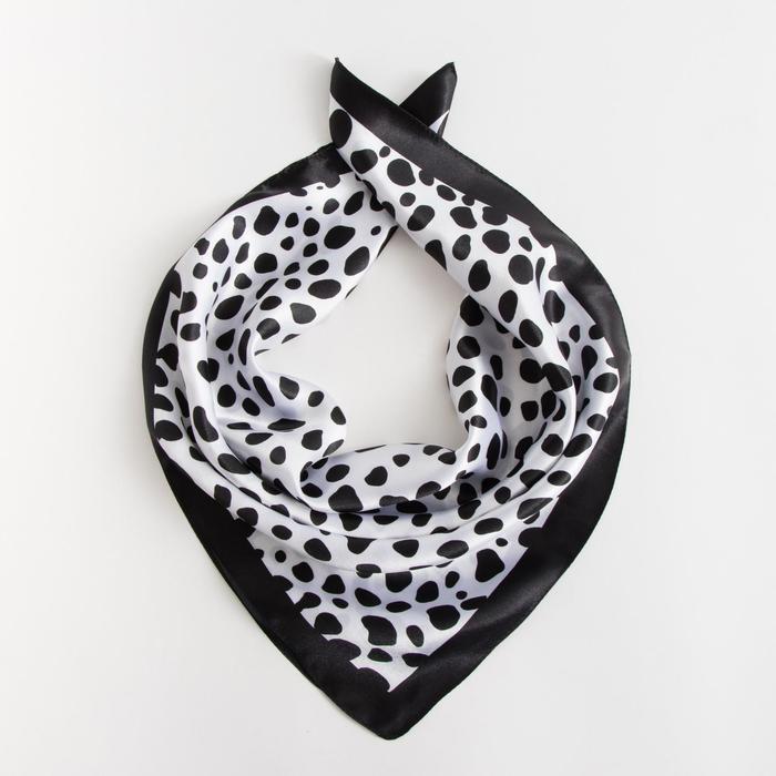Платок текстильный, цвет чёрный, размер 60х60