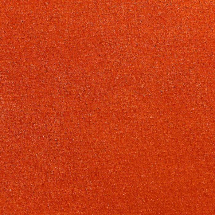 Велюр цвет оранжевый, ширина 180 см